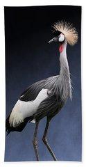 Gray Crowned Crane Hand Towel