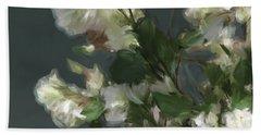 Gray Floral 09 Bath Towel