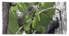 Gray Jays Group Bath Towel