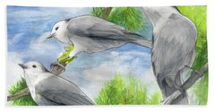 Gray Jays Trio Bath Towel
