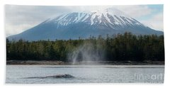 Gray Whale, Mount Edgecumbe Sitka Alaska Bath Towel