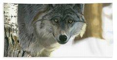 Gray Wolf Bath Towel