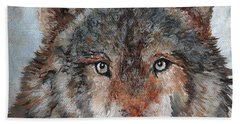 Gray Wolf Bath Towel