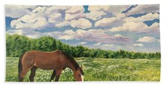 Grazing Among The Daisies Hand Towel
