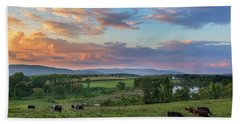 Grazing At Sunset Hand Towel
