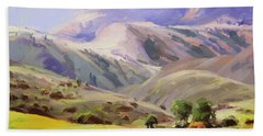 Grazing In The Salmon River Mountains Hand Towel