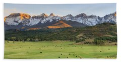 Hand Towel featuring the photograph Grazing Under Sneffels by David Chandler