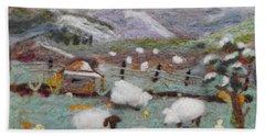 Grazing Woolies Bath Towel by Christine Lathrop