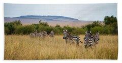 Grazing Zebras Hand Towel