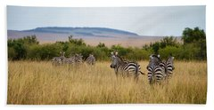 Grazing Zebras Bath Towel