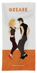 Bath Towel featuring the painting Grease by Inspirowl Design