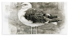 Great Black-backed Gull Bath Towel