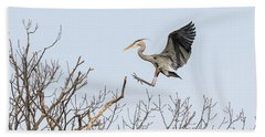 Great Blue Heron 2014-4 Bath Towel