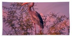 Great Blue Heron - Artistic 6 Hand Towel
