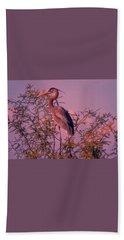Great Blue Heron - Artistic 6 Hand Towel