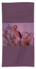Great Blue Heron - Artistic 6 Bath Towel