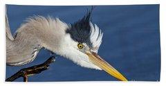 Great Blue Heron - Good Scratch Bath Towel