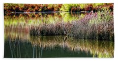 Hand Towel featuring the photograph Great Blue Heron by Paul Mashburn