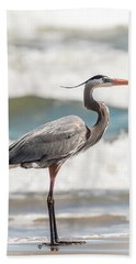Great Blue Heron Profile Bath Towel