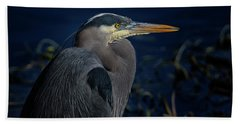 Bath Towel featuring the photograph Great Blue Heron by Randy Hall