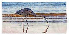 Great Blue Heron Twilight Hand Towel