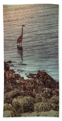 Great Blue Hunting At Dusk Hand Towel