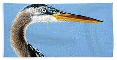 Great Blue Walter Hand Towel