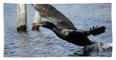 Great Cormorant Bath Towel