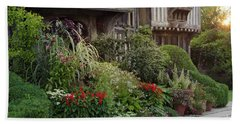 Great Dixter House And Gardens At Sunset 2 Bath Towel
