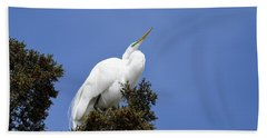 Great Egret Bath Towel by Gary Wightman