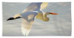 Great Egret Glow Hand Towel