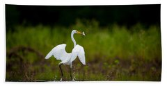 Great Egret, Great Fisherman Hand Towel