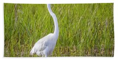 Hand Towel featuring the photograph Great Egret In The Spring  by Ricky L Jones
