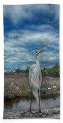 Great Egret Bath Towel