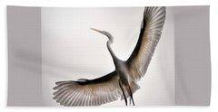 Great Egret Majesty Hand Towel