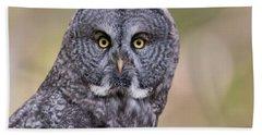 Great Grey Owl Hand Towel