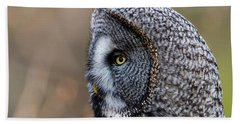 Great Grey's Profile A Closeup Hand Towel by Torbjorn Swenelius