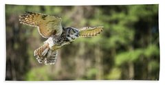 Great Horned Owl-2366 Hand Towel