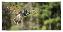 Great Horned Owl-2366 Bath Towel