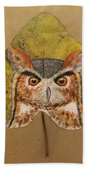 Great Horned Owl Bath Towel by Ralph Root
