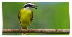 Great Kiskadee Hand Towel by Tony Beck