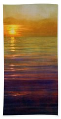 Bath Towel featuring the digital art Great Lakes Setting Sun by Michelle Calkins