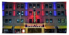 Bath Towel featuring the photograph Great Lakes Theatre by Frozen in Time Fine Art Photography