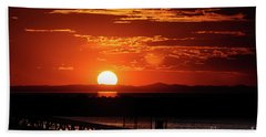 Great Salt Lake Sunset Bath Towel