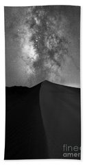 Great Sand Dunes Milky Way Bw Bath Towel