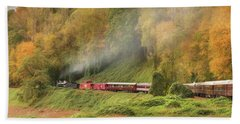Great Smoky Mountains Railroad Bath Towel by Lori Deiter