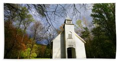 Great Smoky Mountains Spring Storms Over Palmer Chapel  Hand Towel