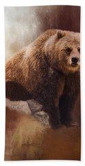 Great Strength - Grizzly Bear Art Bath Towel