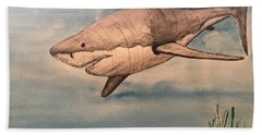 Great White Shark Bath Towel