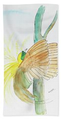 Greater Bird Of Paradise Hand Towel by Keshava Shukla